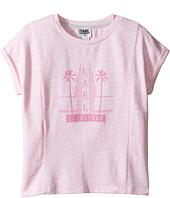 Karl Lagerfeld Kids - Short Sleeve Melange Jersey Tee w/ Miami Print (Little Kids)