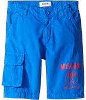 Moschino Kids - Shorts w/ Side Pocket & Logo Detail (Little Kids/Big Kids)