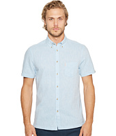Ben Sherman - Short Sleeve Mod Plain/Linen Summer Shirt