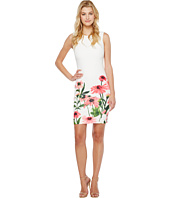 Calvin Klein - Sheath Dress with Floral Border Print