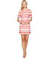 Calvin Klein - Cold Shoulder Stripe Dress
