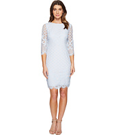Sangria - 3/4 Sleeve Lace Sheath Dress