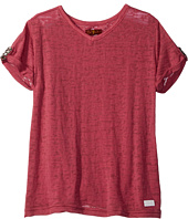 7 For All Mankind Kids - Slouchy V-Neck Tee (Big Kids)