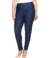 MICHAEL Michael Kors - Plus Size Denim Pull-On Leggings in Blue Indigo