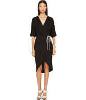 Prabal Gurung - Wave Rib Jersey Dolman Sleeve Wrap Dress