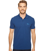 Lacoste - Short Sleeve Stretch Pique Rubber Largest Croc Polo Regular Fit