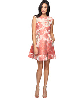 Vince Camuto - Jacquard Extended Cap Fit and Flare Dress