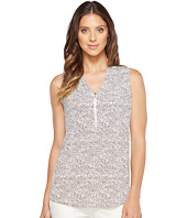 Ivanka Trump - Printed Matte Jersey Sleeveless V-Neck with Zipper