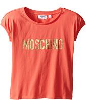 Moschino Kids - Short Sleeve Logo T-Shirt (Big Kids)