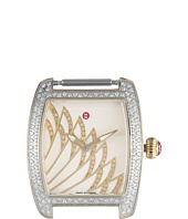 Michele - 29mm x 30mm, Urban Mini Matinee Diamond Two-Tone,Diamond Dial Watch Gold/White