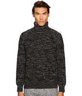 BELSTAFF - Barnsted Wool Mouline Funnel Neck Sweater
