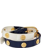 Tory Burch - Color Block Logo Stud Double Wrap Bracelet