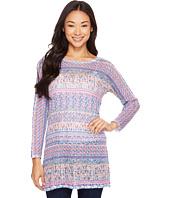 Nally & Millie - Printed Tile Stripe Long Sleeve Tunic