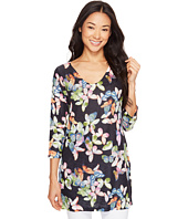 Nally & Millie - Black Floral V-Neck Tunic