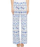 Nally & Millie - Printed Blue Border Pants