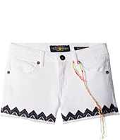 Lucky Brand Kids - Riley Stretch Denim Shorts with Embroidery (Big Kids)
