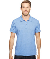 Agave Denim - Short Sleeve Polo Italian Pique in Chambray