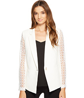 XOXO - Lace Contrast Jacket w/ Welt Pockets