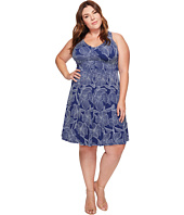 Adrianna Papell - Plus Size Cross Back Fit & Flare Dress