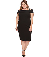 Adrianna Papell - Plus Size Crepe Off-the-Shoulder Cocktail Dress