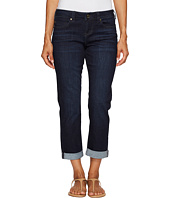 Liverpool - Petite Peyton Slim Boyfriend in Vintage Super Dark Comfort Stretch Denim