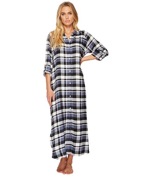 DKNY Flannel Long Sleeve Maxi