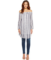 Three Dots - Long Sleeve Off Shoulder Shirt Tunic