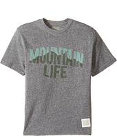 The Original Retro Brand Kids - Mountain Life Short Sleeve Tri-Blend Tee (Big Kids)