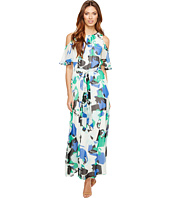 Calvin Klein - Printed Maxi with Flutter Sleeve