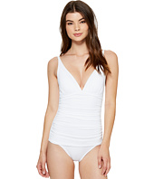 Tommy Bahama - Pearl Over-the-Shoulder V-Neck One-Piece Swimsuit