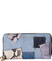 Marc Jacobs - Denim Patchwork Standard Continental Wallet