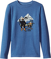 Life is Good Kids - Ski Lift Bear Long Sleeve Crusher Tee (Little Kids/Big Kids)