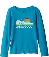 Life is Good Kids - Camp Guitar Long Sleeve Crusher Tee (Little Kids/Big Kids)