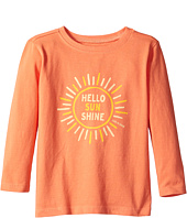 Life is Good Kids - Hello Sunshine Long Sleeve Crusher Tee (Toddler)