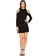 Culture Phit - Kassedy Cold Shoulder Mock Neck Dress