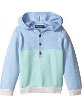 Toobydoo - Blue Henley Hoodie (Infant/Toddler)