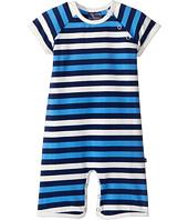 Toobydoo - Multi Blue Stripe Shortie Jumpsuit (Infant)