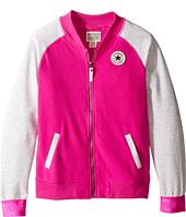 Converse Kids - Raglan Varsity Jacket (Big Kids)