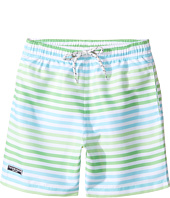 Toobydoo - Swim Shorts Multi Green Stripe (Short) (Infant/Toddler/Little Kids/Big Kids)