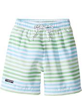 Toobydoo - Swim Shorts Multi Green Stripe (Infant/Toddler/Little Kids/Big Kids)