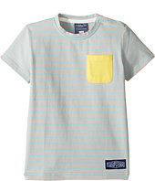 Toobydoo - Aqua Stripe Pocket T-Shirt (Infant/Toddler/Little Kids/Big Kids)