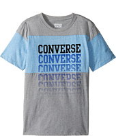 Converse Kids - Color Block Repeat Top (Big Kids)