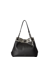 COACH - Color Block Mixed Materials Turnlock Edie