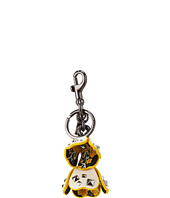 COACH - Floral Printed Leather Tea Rose Bag Charm