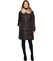 Kate Spade New York - Soft Down Faux Fox Fit and Flare Jacket