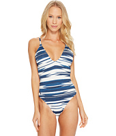 Polo Ralph Lauren - Native Ikat Stripe Laced Back and Side Mio One-Piece