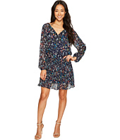 Tahari by ASL Petite - Petite Dropwaist Floral Chiffon Dress with Sleeve