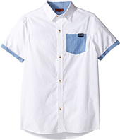 7 For All Mankind Kids - Short Sleeve Button Down Shirt (Big Kids)