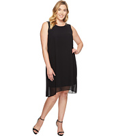 Vince Camuto Specialty Size - Plus Size Sleeveless Chiffon Overlay Dress