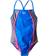 Speedo Kids - Heather Splice One-Piece Swimsuit (Big Kids)